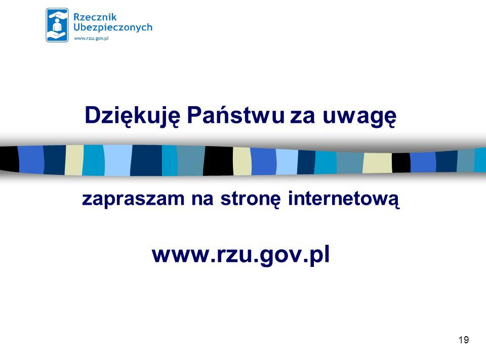 Dziękuję Państwu za uwagę zapraszam na stronę internetową www.rzu.gov.pl