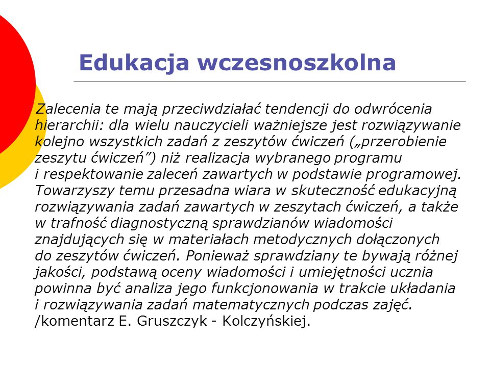 Edukacja wczesnoszkolna