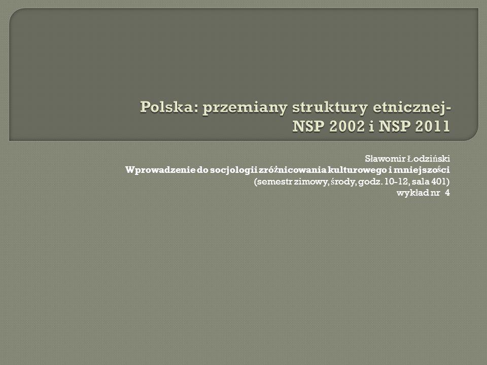 Polska: przemiany struktury etnicznej- NSP 2002 i NSP 2011