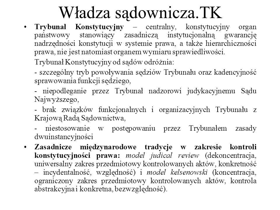 Władza sądownicza.TK