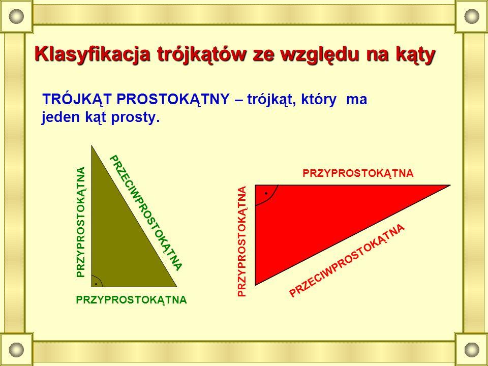 Klasyfikacja trójkątów ze względu na kąty
