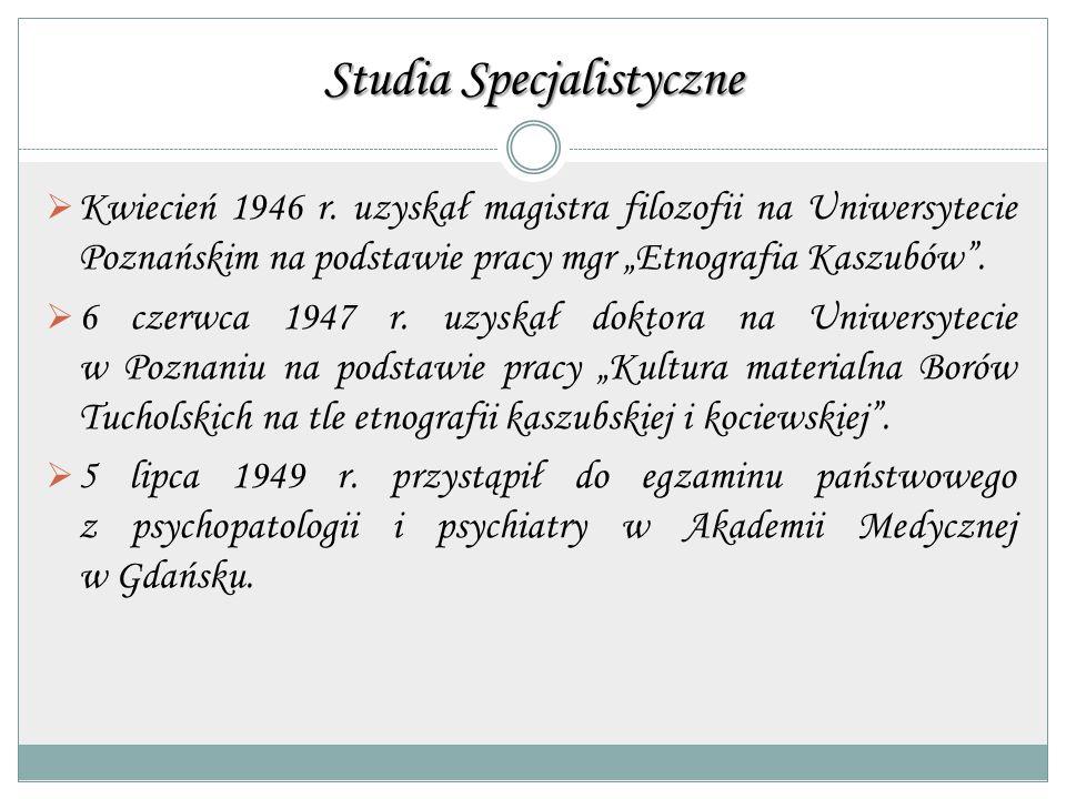 Studia Specjalistyczne