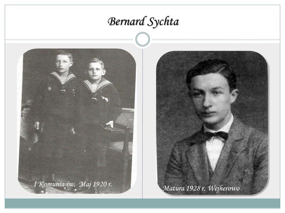 Bernard Sychta Pierwsza Komunia Święta maj 1920 r.