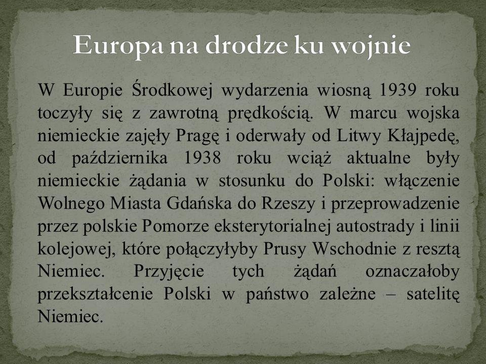 Europa na drodze ku wojnie