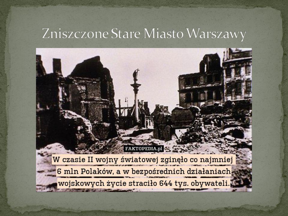 Zniszczone Stare Miasto Warszawy