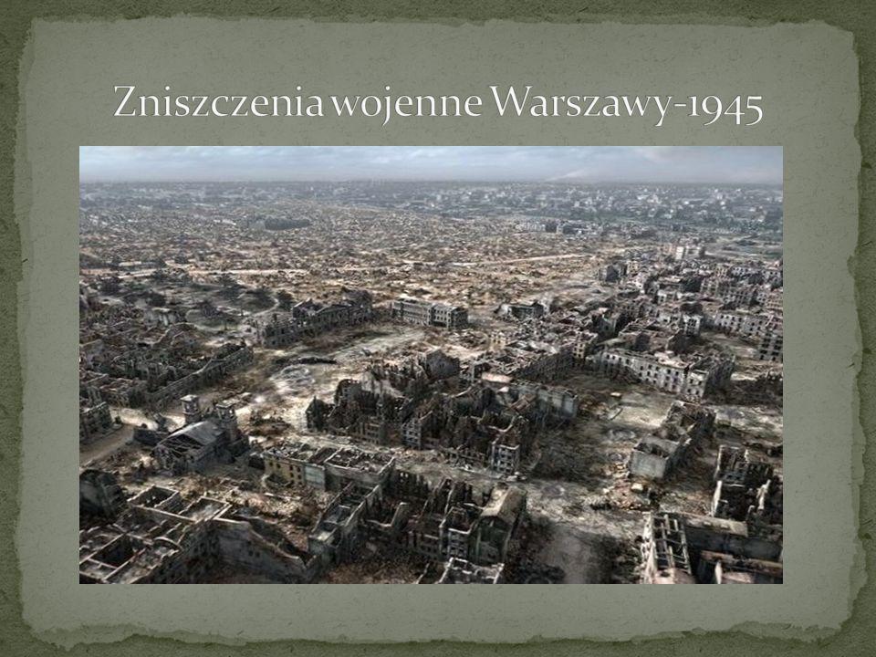 Zniszczenia wojenne Warszawy-1945