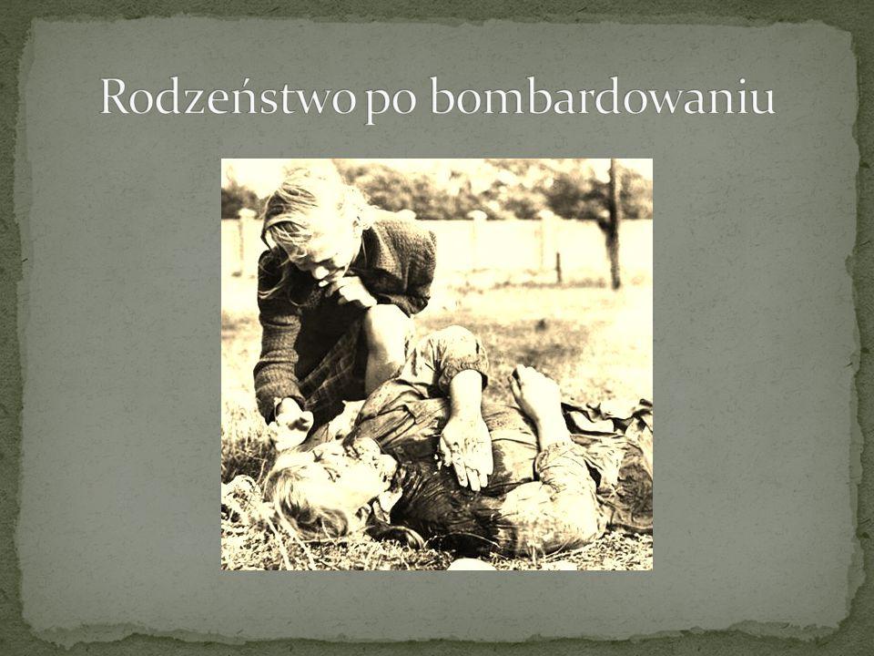 Rodzeństwo po bombardowaniu