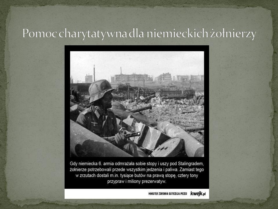 Pomoc charytatywna dla niemieckich żołnierzy