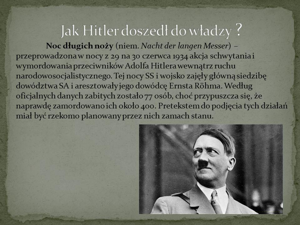 Jak Hitler doszedł do władzy