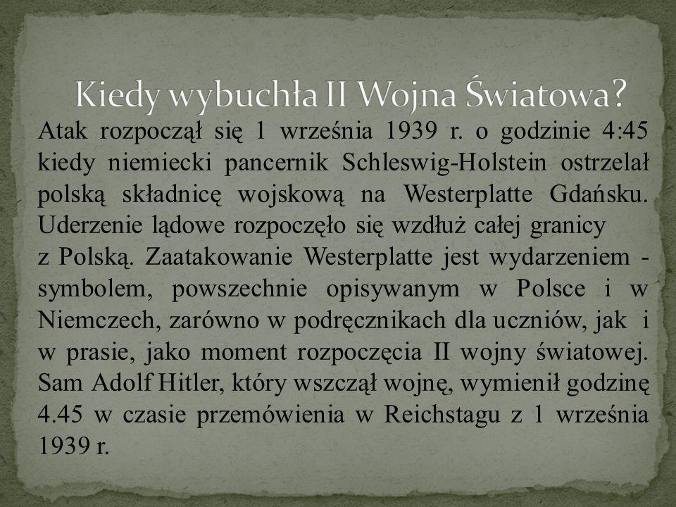 Kiedy wybuchła II Wojna Światowa