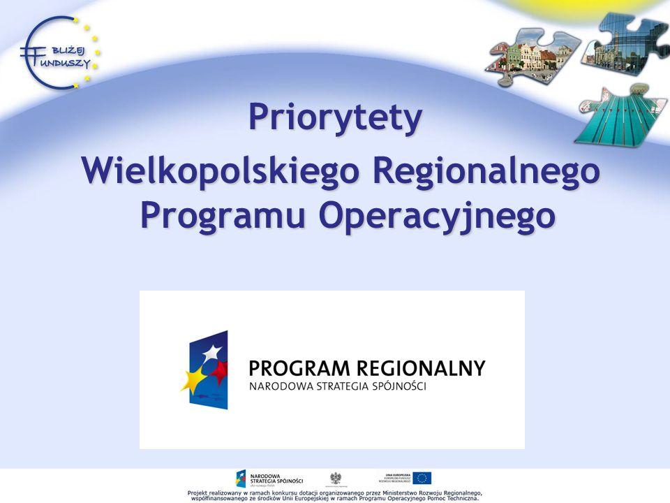 Priorytety Wielkopolskiego Regionalnego Programu Operacyjnego