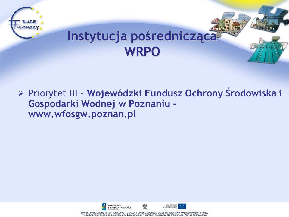 Instytucja pośrednicząca WRPO
