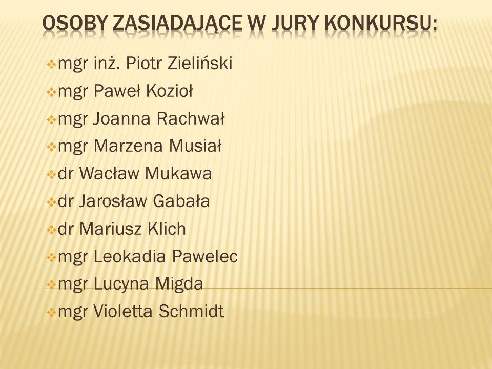 Osoby zasiadające w jury konkursu: