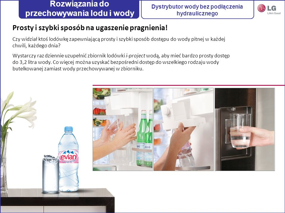 Rozwiązania do przechowywania lodu i wody