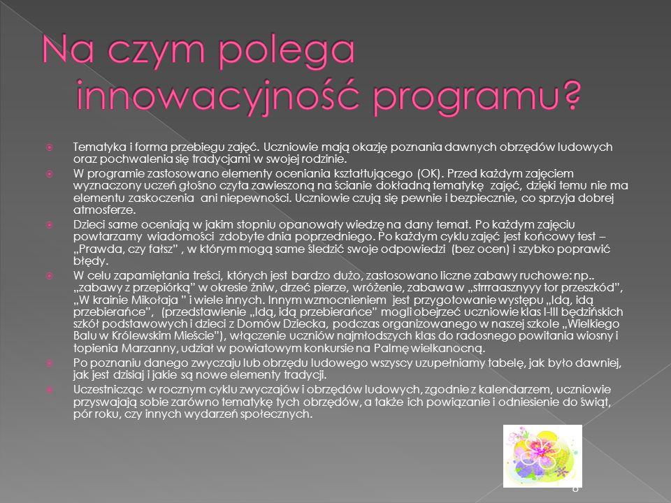 Na czym polega innowacyjność programu