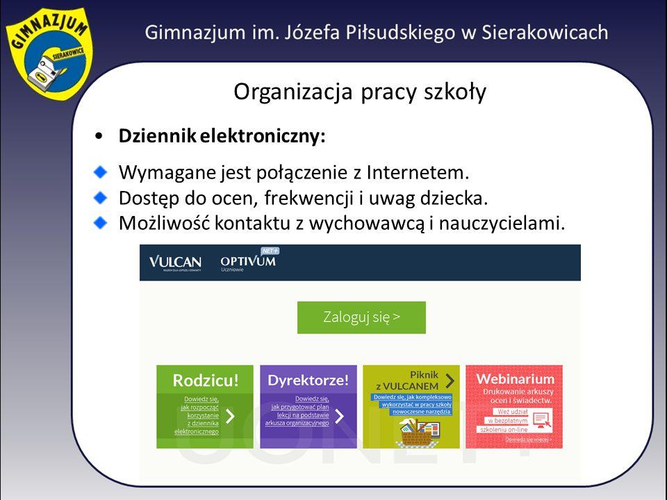 Organizacja pracy szkoły