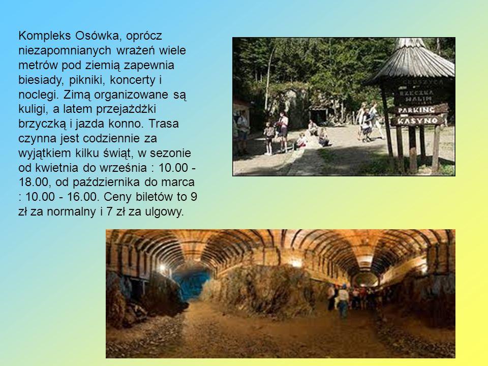 Kompleks Osówka, oprócz niezapomnianych wrażeń wiele metrów pod ziemią zapewnia biesiady, pikniki, koncerty i noclegi.