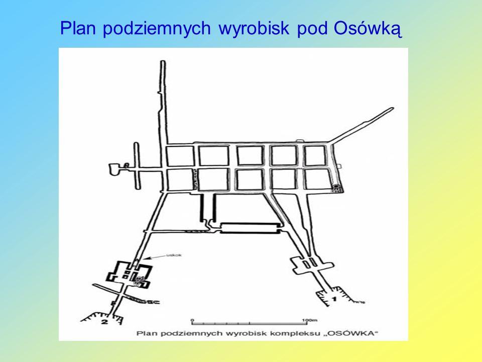 Plan podziemnych wyrobisk pod Osówką