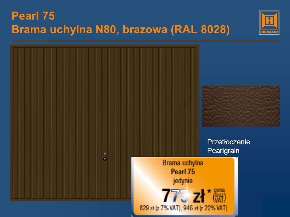Pearl 75 Brama uchylna N80, brazowa (RAL 8028)
