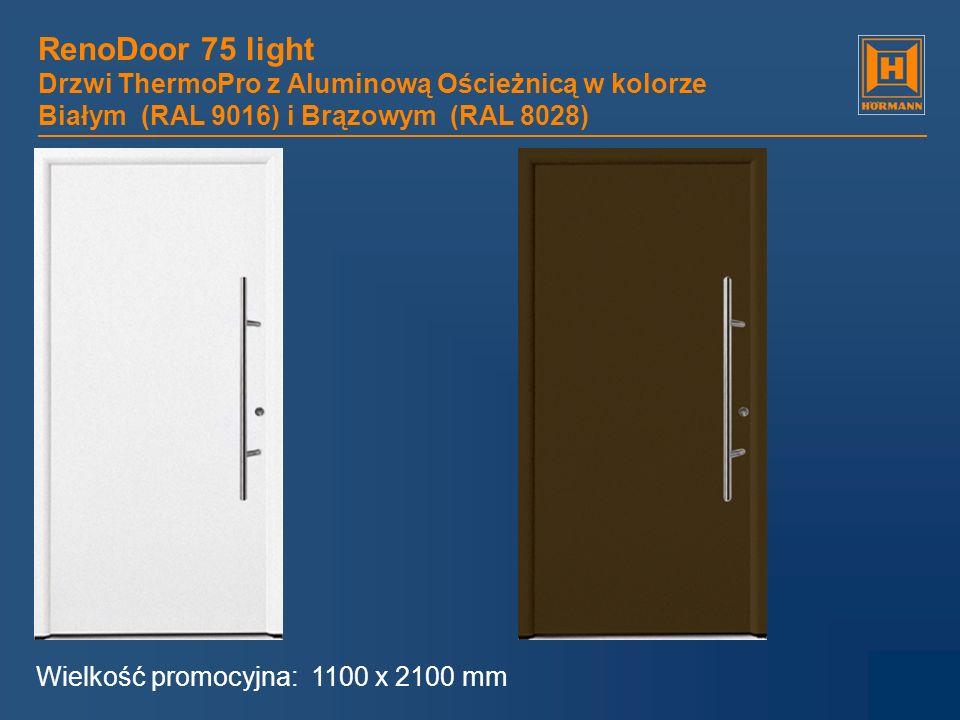 RenoDoor 75 light Drzwi ThermoPro z Aluminową Ościeżnicą w kolorze Białym (RAL 9016) i Brązowym (RAL 8028)
