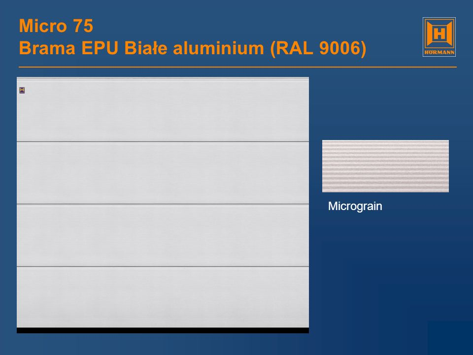 Micro 75 Brama EPU Białe aluminium (RAL 9006)