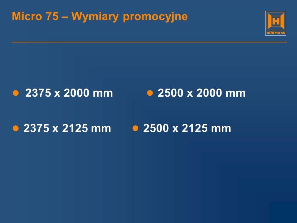 Micro 75 – Wymiary promocyjne