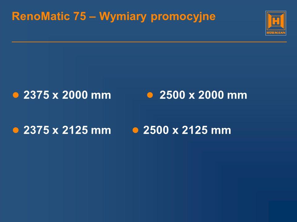RenoMatic 75 – Wymiary promocyjne