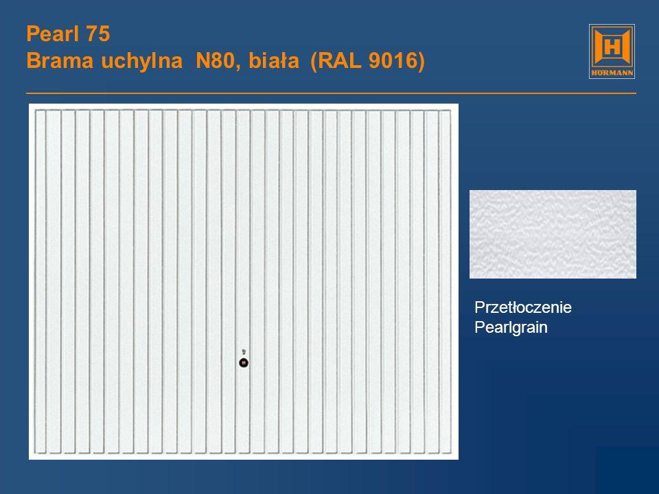Pearl 75 Brama uchylna N80, biała (RAL 9016)