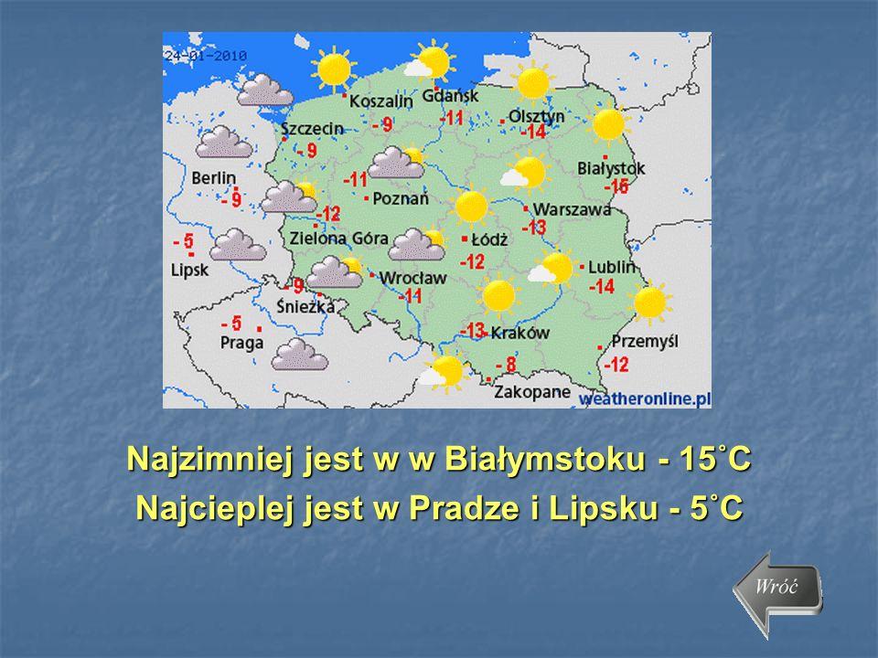 Najzimniej jest w w Białymstoku - 15˚C