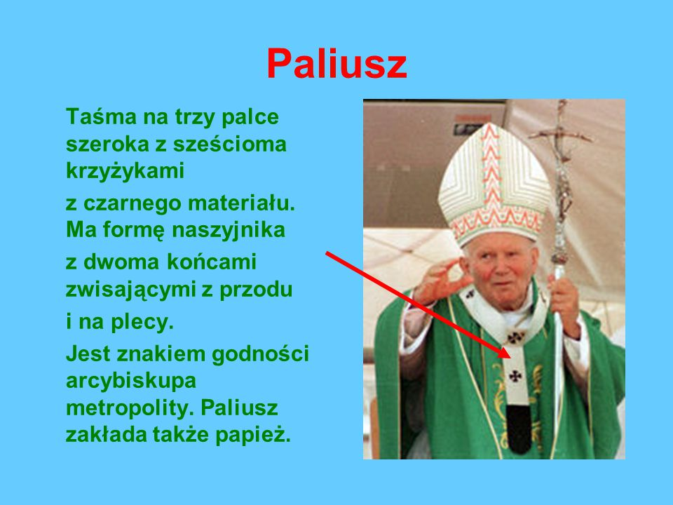 Paliusz Taśma na trzy palce szeroka z sześcioma krzyżykami