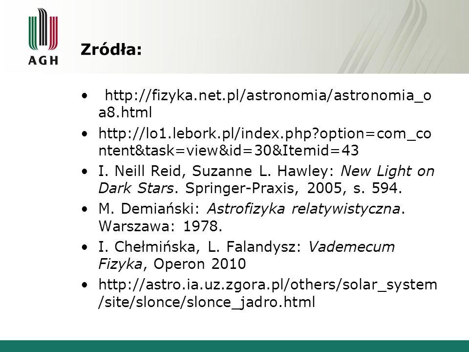 Zródła: http://fizyka.net.pl/astronomia/astronomia_oa8.html