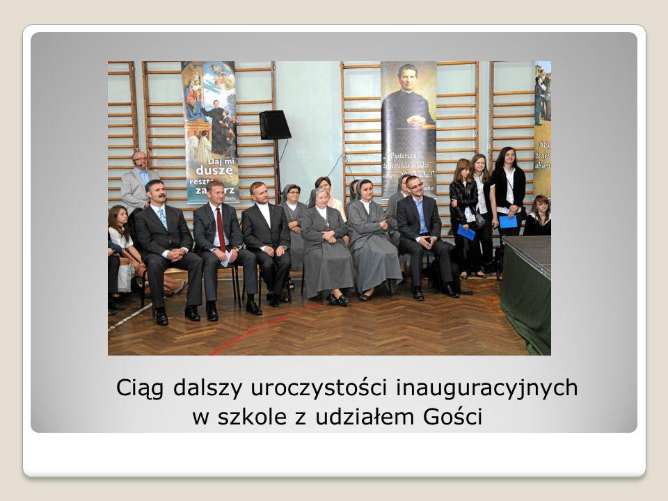 Ciąg dalszy uroczystości inauguracyjnych w szkole z udziałem Gości