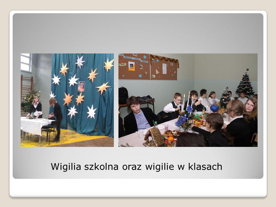 Wigilia szkolna oraz wigilie w klasach