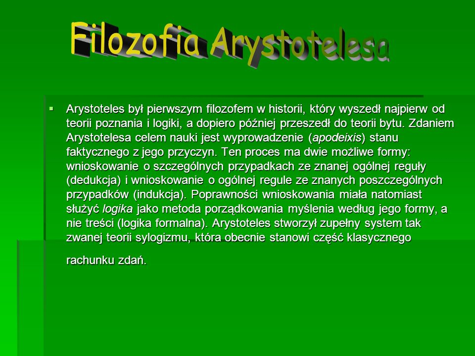 Filozofia Arystotelesa