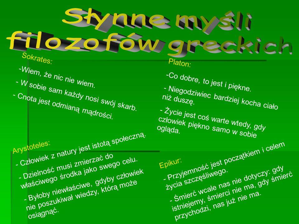 Słynne myśli filozofów greckich