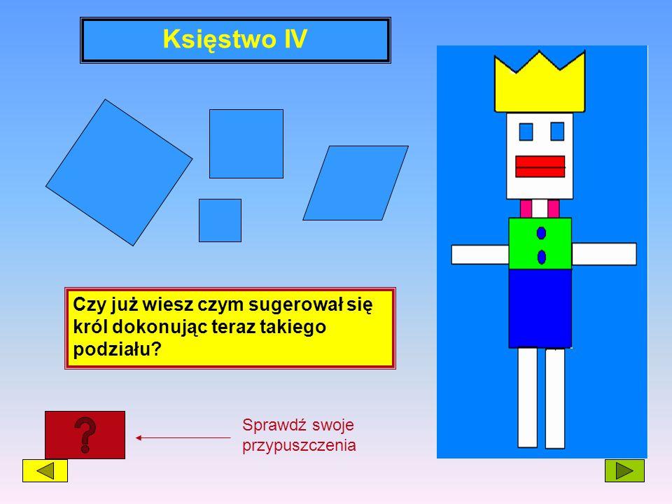 Księstwo IVCzy już wiesz czym sugerował się król dokonując teraz takiego podziału.