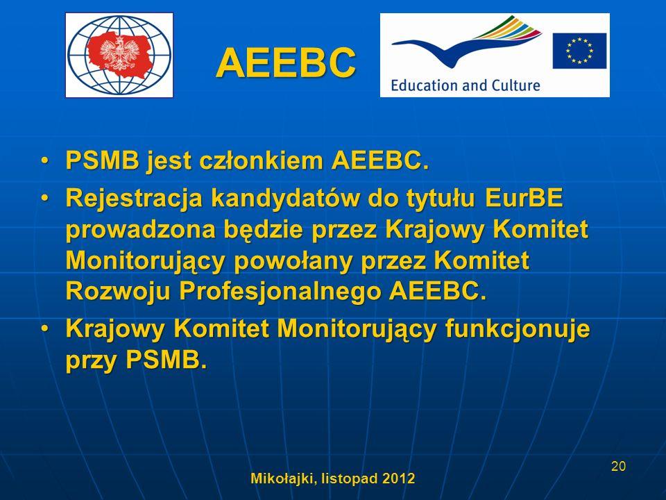 AEEBC PSMB jest członkiem AEEBC.