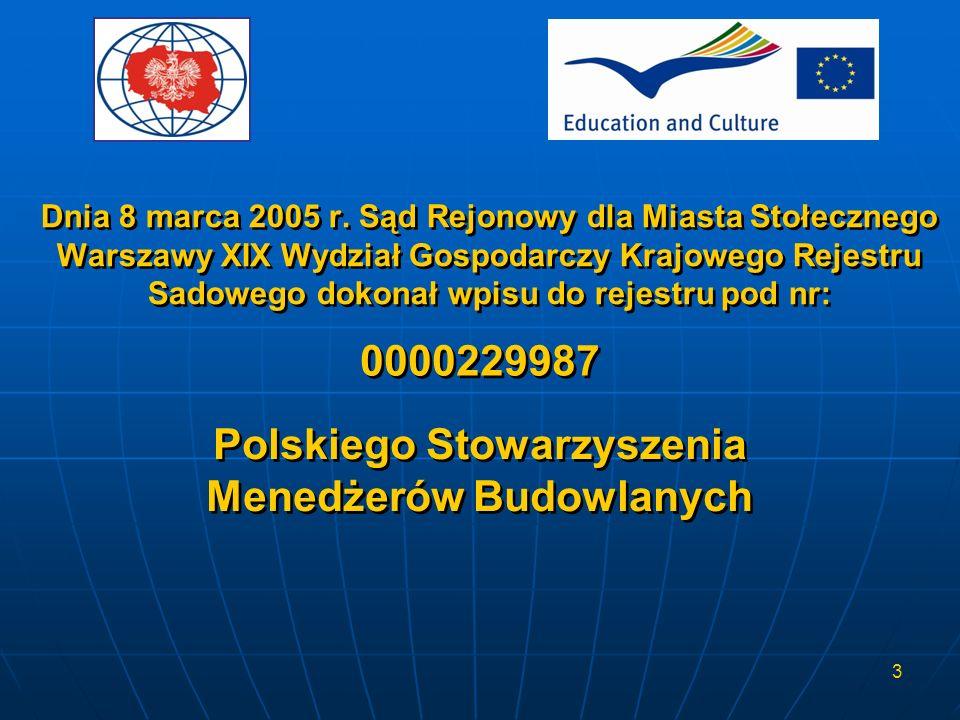 Polskiego Stowarzyszenia Menedżerów Budowlanych