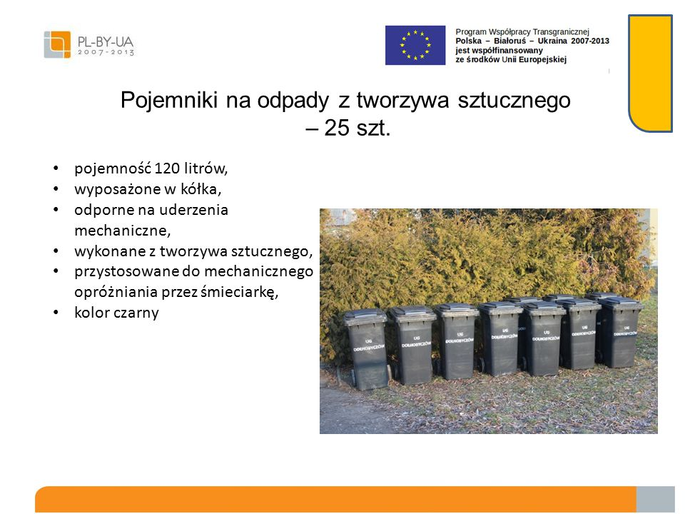 Pojemniki na odpady z tworzywa sztucznego