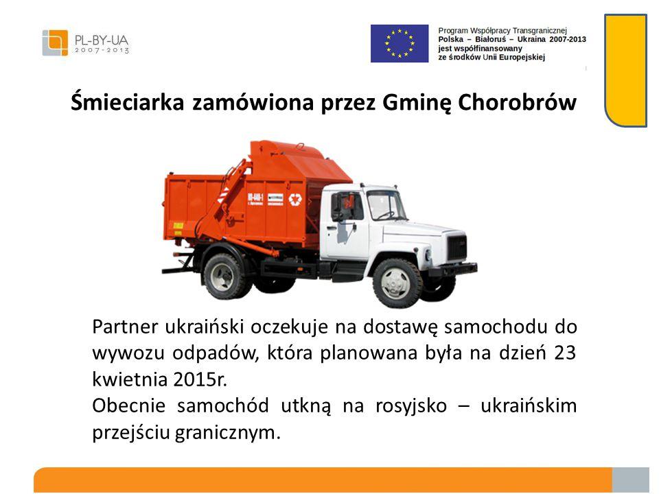 Śmieciarka zamówiona przez Gminę Chorobrów