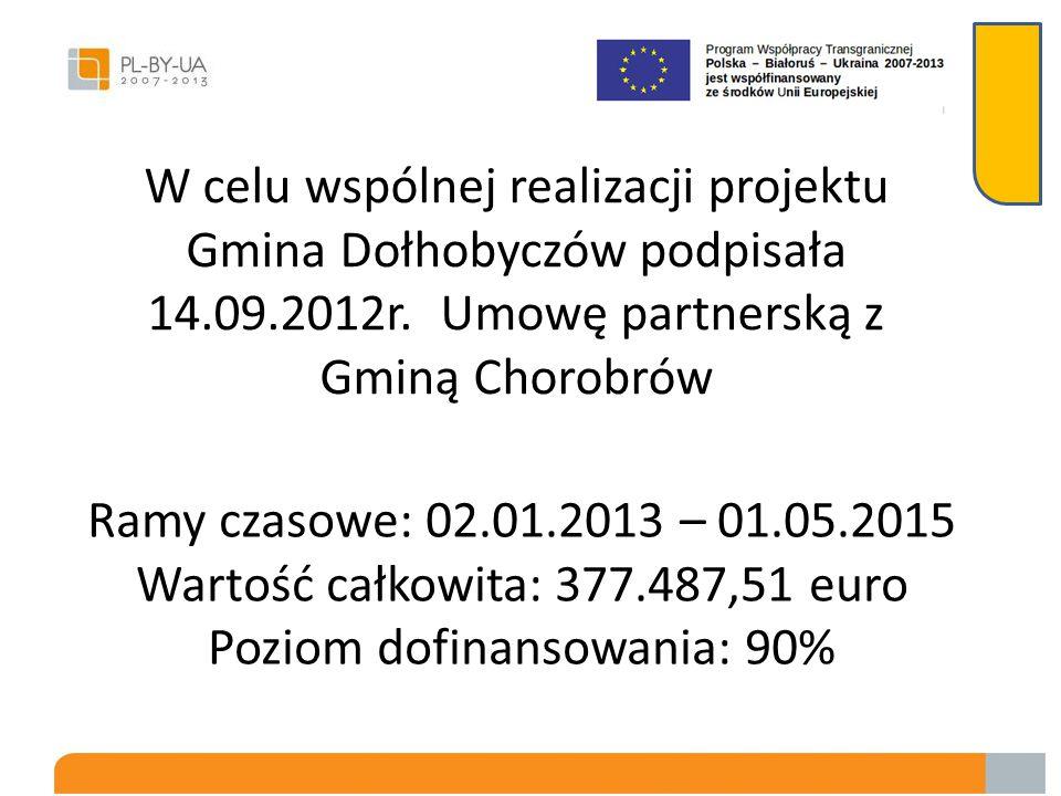 Wartość całkowita: 377.487,51 euro Poziom dofinansowania: 90%