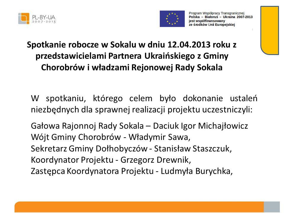 Spotkanie robocze w Sokalu w dniu 12. 04