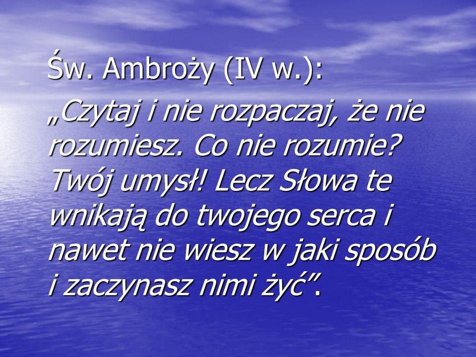 Św. Ambroży (IV w.):