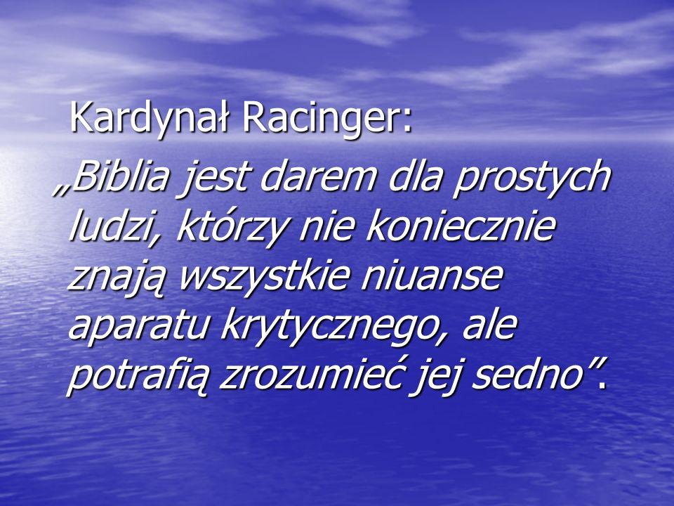 Kardynał Racinger: