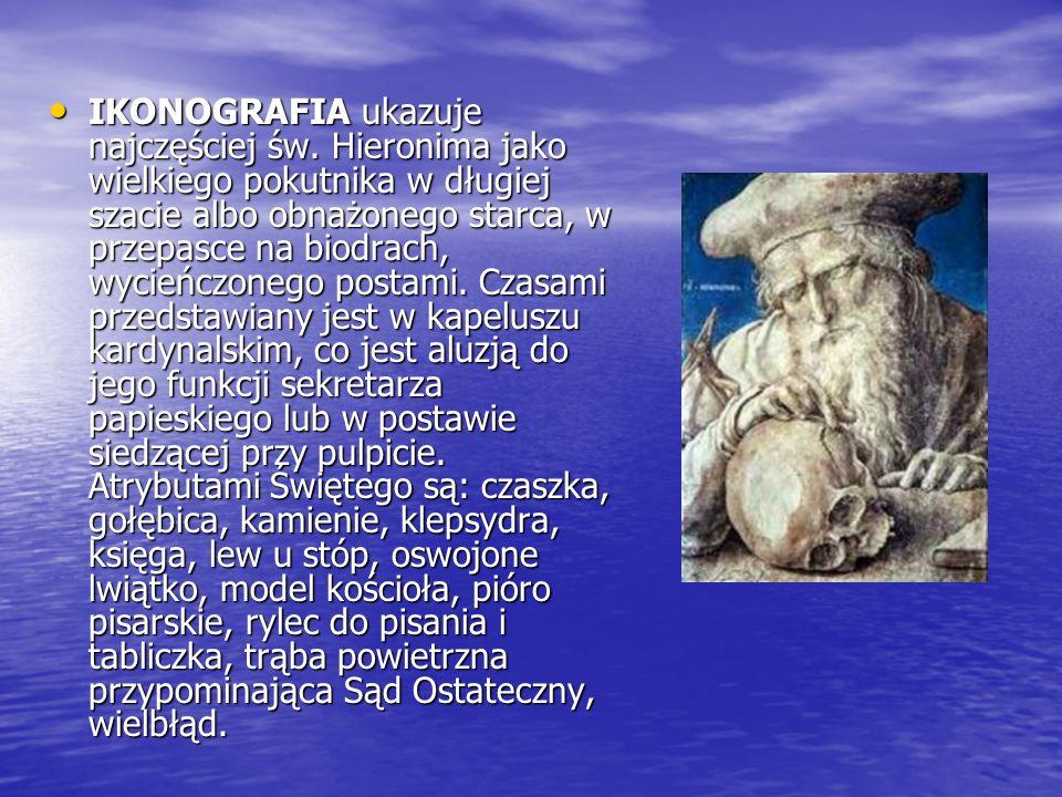 IKONOGRAFIA ukazuje najczęściej św