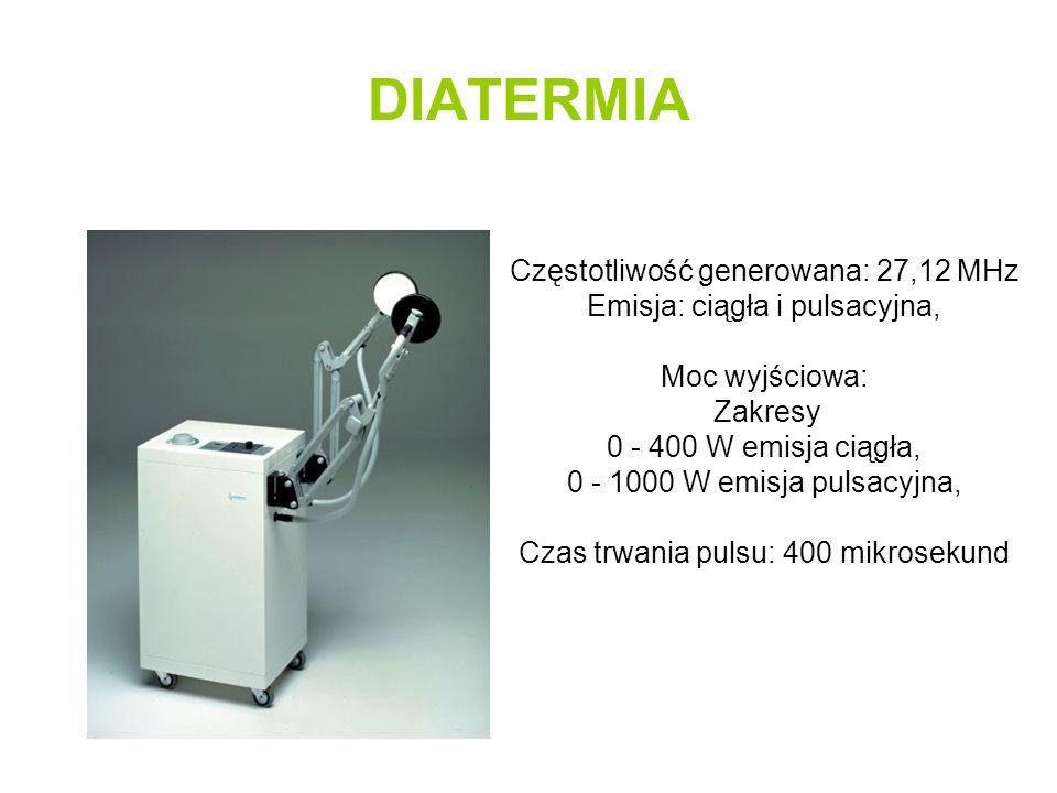 DIATERMIA Częstotliwość generowana: 27,12 MHz