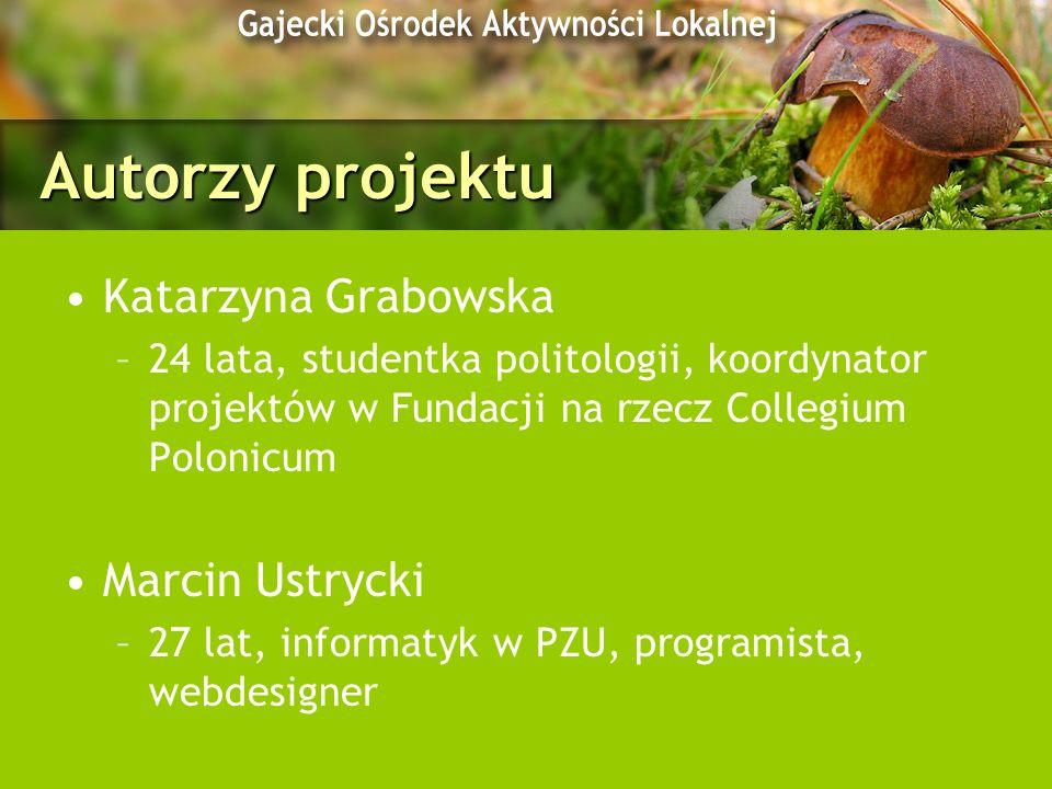 Autorzy projektu Katarzyna Grabowska Marcin Ustrycki