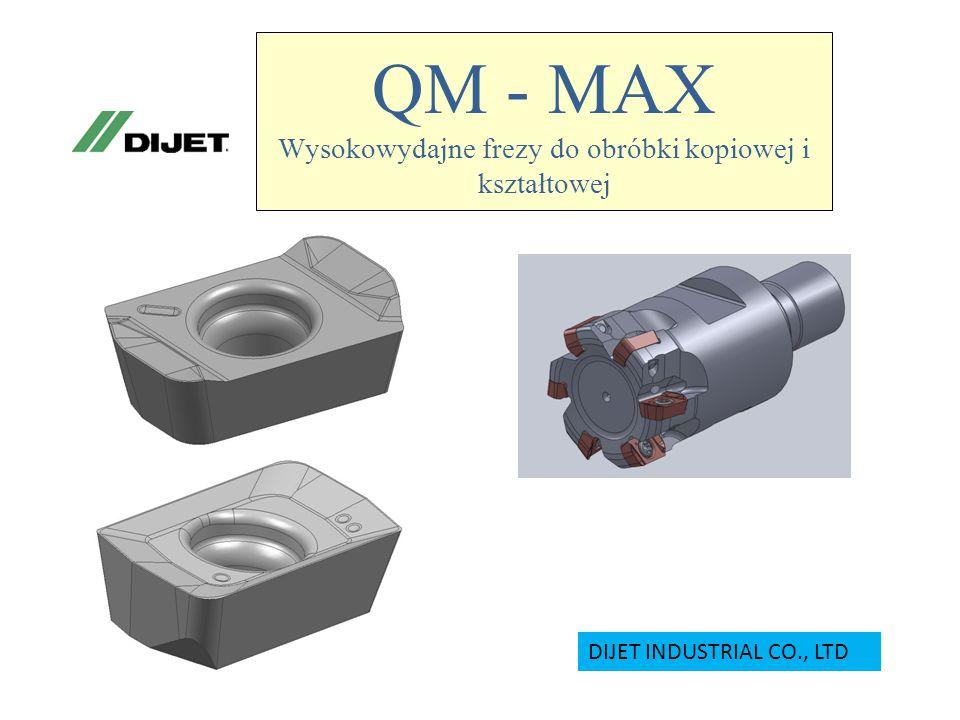 QM - MAX Wysokowydajne frezy do obróbki kopiowej i kształtowej