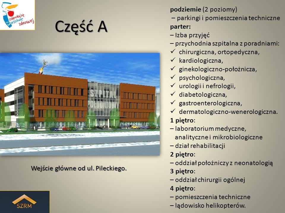 Część A podziemie (2 poziomy) – parkingi i pomieszczenia techniczne