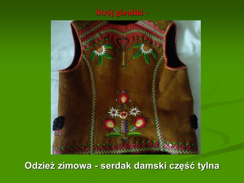 Odzież zimowa - serdak damski część tylna